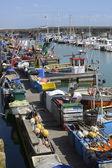 Fishing boats at Brighton Marina. England — Stock Photo