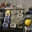 Commercial fishing equipment. Brighton Marina. England — Stock Photo