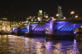 Southwark Bridge at night. London. England — Stock Photo