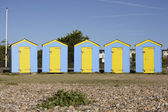 Beach huts at Littlehampton. England — Stock Photo