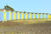 Sketch of Beach huts at Littlehampton. England — Stock Photo