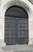 Large Wooden Fortress door — Stock Photo