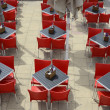 Restaurant tables and chairs. Brighton. England — Stock Photo #48928847