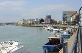 River Arun at Littlehampton. Sussex. England — Stock Photo