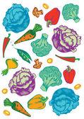 Warzywa wektor zestaw — Wektor stockowy