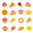 Stock Vector: Sweets & bakery set