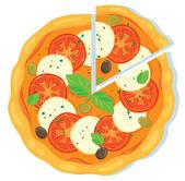Mozzarella pizza — Stock Vector