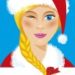Cute Santa girl — Stock Vector