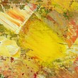 Abstract painting on canvas - Stock Photo