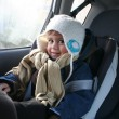 Stock Photo: Baby in car seat for safety,