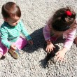 Stock Photo: Sisters playing at park
