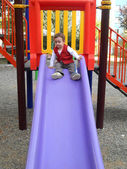 Baby boy in park — Stock Photo