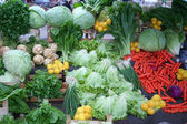 Greengrocery at bazaar — Stock Photo