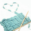 Knitting with love — Stock Photo