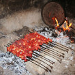 Stock Photo: Famous turkish meal kebab, on grill