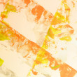 Golden color painted crinkled paper as background — Stock Photo