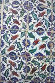 Ottoman turkish historical tile detail as background — Stock Photo