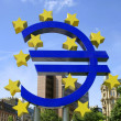 The Famous Big Euro Sign at the European Central Bank in Frankfurt, Germany. — Lizenzfreies Foto