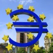 The Famous Big Euro Sign at the European Central Bank in Frankfurt, Germany. — Stock Photo