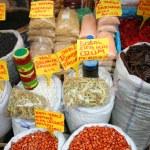 Market selling oriental ingredients on the street — Stock Photo #25414887