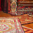 Carpets at bazaar — Stock Photo