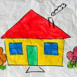 Childish drawn home — Stock Photo