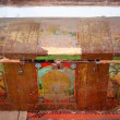 Old antique chest — Stock Photo