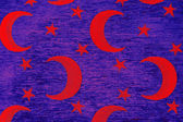 Crescent and stars on blue background — Stock Photo