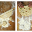 "Making homemade turkish pastry named ""gozleme"" — Zdjęcie stockowe"