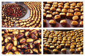 Delicious grilled chestnuts — Stock Photo
