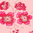 Flowers on pink background — Stock Photo #25839509