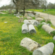 Ruins of ancient troy city, Canakkale, Dardanelles, Turkey — Stock Photo #25877713