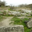 Ruins of ancient troy city, Canakkale, Dardanelles, Turkey — Stock Photo #25878357