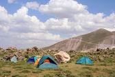 Tents and camping at Hasan mountain — Stock Photo