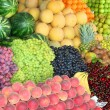 Organic fruits on display at bazaar — Stock Photo