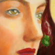 Portrait paintings detail — Stock Photo
