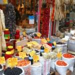 Market selling oriental ingredients on the street — Stock Photo #25900603