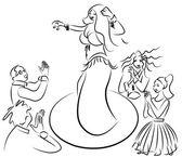 Břišní tanečnice, provádění, publikum tleská — Stock fotografie