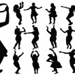 Dancing girls silhouette — Stock Photo #28439739
