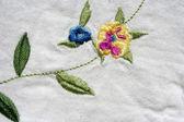 Turkish needlework on quilt — Stock Photo