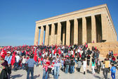 People celebrating the foundation of the Republic of Turkey — Stock Photo