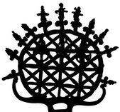 Symbol of Hittite,silhouette — Stock Photo