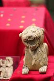 Ivory lion, Assyrian Civilization — Stock Photo