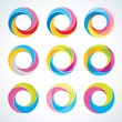 Set of abstact Infinite loop logo template. Corporate icons - Image vectorielle