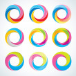 Royalty-Free Stock Vector Image: Set of abstact Infinite loop logo template. Corporate icons