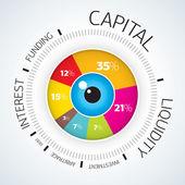 Infografía - diagrama del vector círculo empresarial concepto — Vector de stock