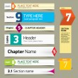 Modern infographics options banner. Vector illustration. can be  — Stok Vektör