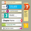 Modern infographics options banner. Vector illustration. can be  — Stock vektor