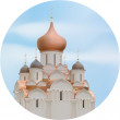 Orthodox Cathedral Church — Stock Vector