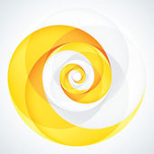 Abstract Infinite Loop Swirl Template. 2 Pieces Shape. EPS10 — Stock Vector